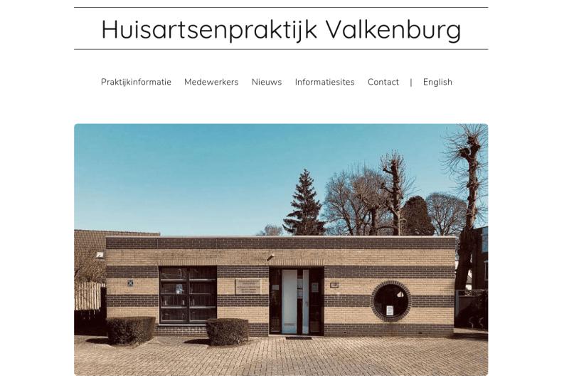 Website Huisartsenpraktijk Valkenburg