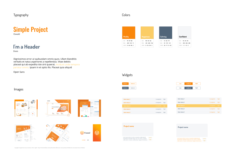 Initial moodboard of Simple Project