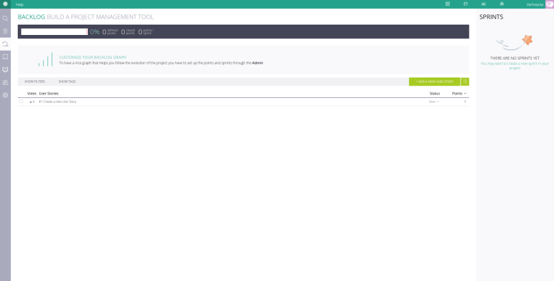 A screenshot of the backlog screen of Taiga.