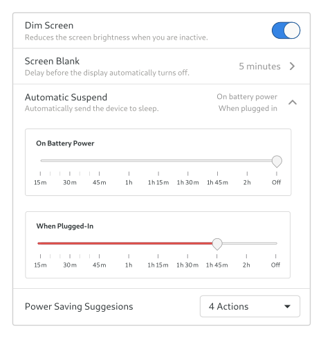 Mockup of the Automatic Suspend option