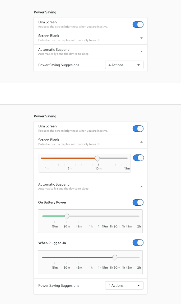 Design experiment for the Screen Blank & Automatic Suspend settings - part 3