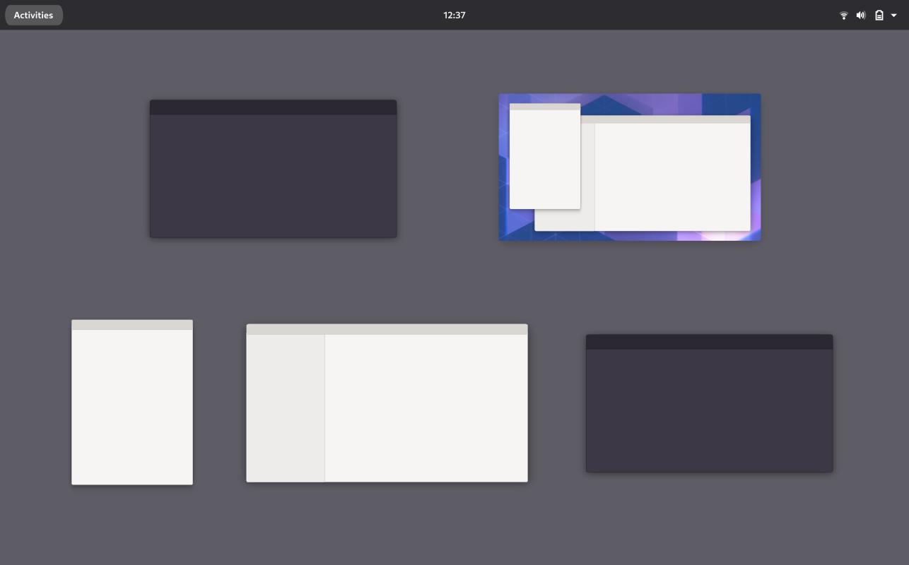 New design GNOME window management